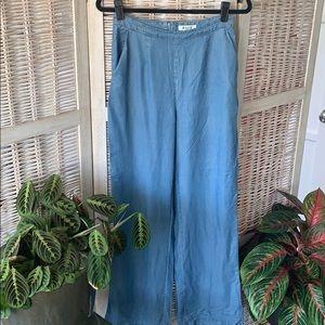 Bbdakota high waist wide leg chambray pant
